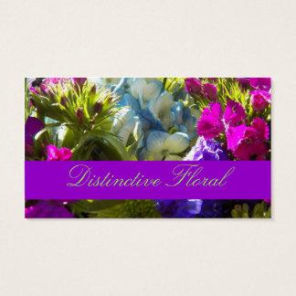Floral brilhante cartão de visitas