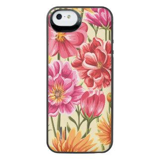 Floral Capa Carregador Para iPhone SE/5/5s