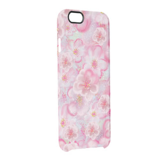 floral capa para iPhone 6/6S clear