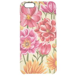 Floral Capa Para iPhone 6 Plus Clear