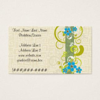 Floral Cartão De Visitas
