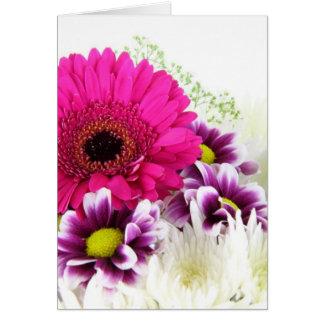 Floral cor-de-rosa cartão de nota