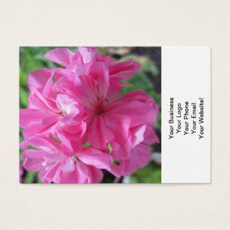 Floral cor-de-rosa do gerânio cartão de visitas