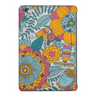Floral corajoso e videiras capa iPad mini