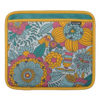Floral corajoso e videiras bolsas para iPad