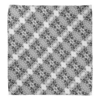 Floral cruzado cinzento modelado bandana