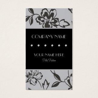 Floral de prata cartão de visitas