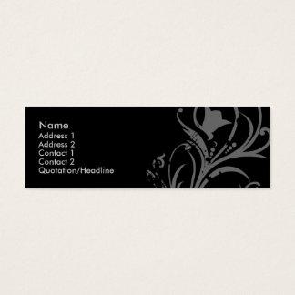 Floral de prata cartão de visitas mini