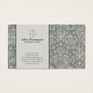 Floral elegante - cartão de visita da lei