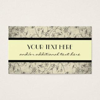 Floral elegante cartão de visitas