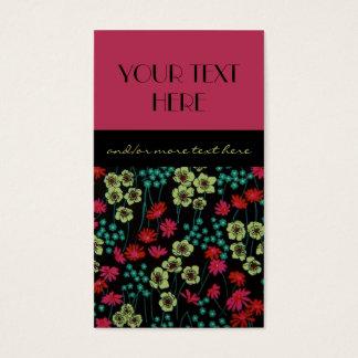 Floral & extravagante cartão de visitas