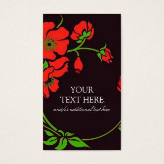 Floral extravagante cartão de visitas