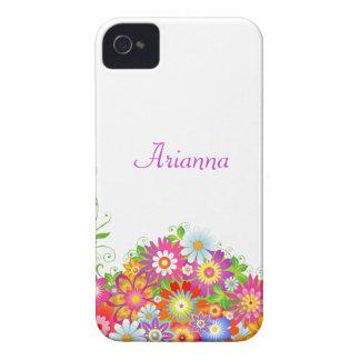 Floral feminino personalizado capa para iPhone 4 Case-Mate