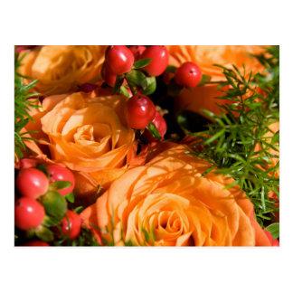 Floral festivo cartão postal