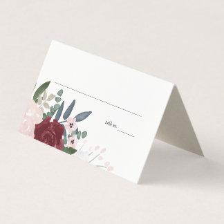 Floral romântico, coloca cartões