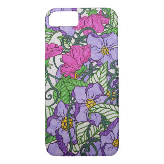 Floral roxo capa iPhone 7