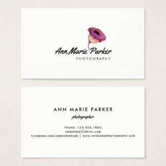 Floral roxo cartão de visitas