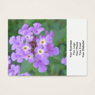 Floral roxo da planta do Lantana Cartão De Visitas