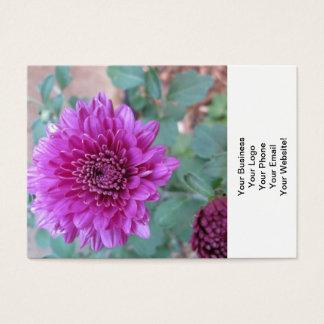 Floral roxo do crisântemo cartão de visitas