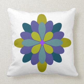 Floral roxo geométrico do verde azul almofada
