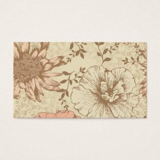 Floral silenciado cartão de visitas