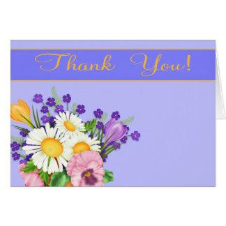 Floral todos os cartões de agradecimentos da ocasi