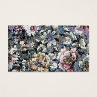 Floral velho cartão de visitas