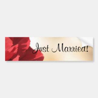 Floral vermelho do recem casados adesivo para carro