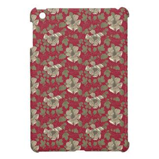 Floral vermelho retro capa iPad mini