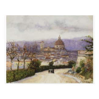 Florença. Caminhada. por Vasily Surikov Cartão Postal