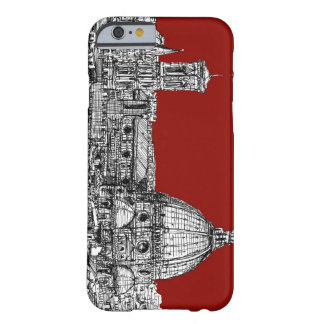 Florença Italia no vermelho Capa Barely There Para iPhone 6
