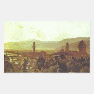Florença pelo Ge de Nikolai Adesivo Retangular
