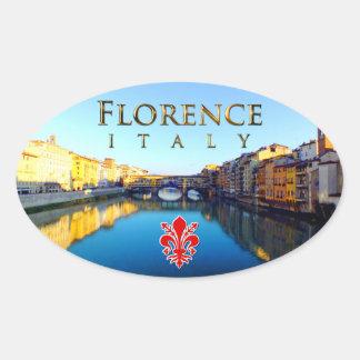 Florença - Ponte Vecchio Adesivo Oval