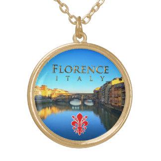 Florença - Ponte Vecchio Colar Com Pendente Redondo