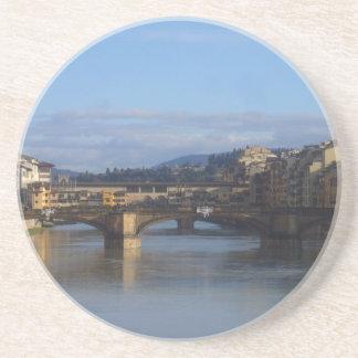 Florença Ponte Vecchio Porta Copos De Arenito
