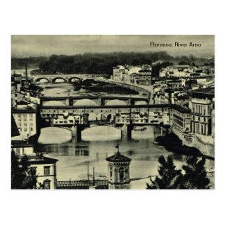 Florença, River Arno Cartão Postal
