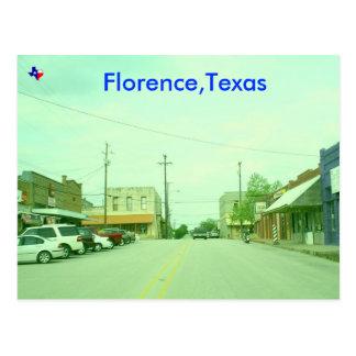 Florença, Texas Cartão Postal