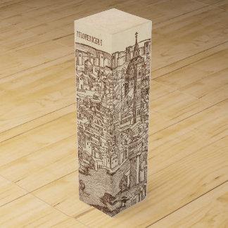 Florença Woodcut medieval Caixa Para Garrafa De Vinho