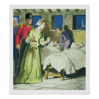 Florence Nightingale (1820-1910) 'das espreitadela Poster