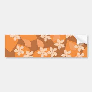 Flores alaranjadas. Teste padrão floral retro Adesivo Para Carro