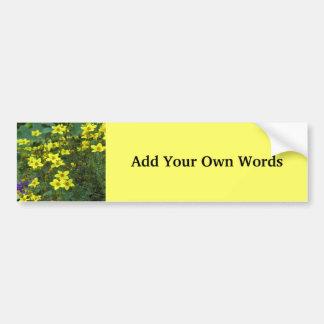 Flores amarelas adesivo para carro