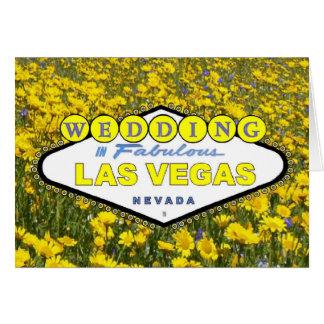 Flores amarelas que WEDDING em Las Vegas fabuloso Cartão