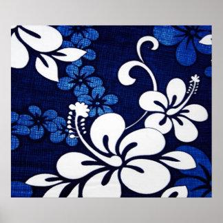 Flores azuis de Havaí Pôsteres
