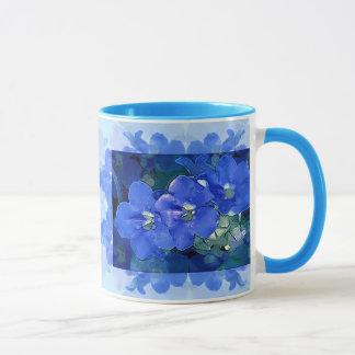"""""""Flores Azuis"""" (flores azuis) Caneca"""