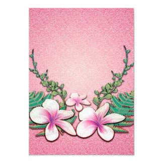 Flores bonitas convite 12.7 x 17.78cm