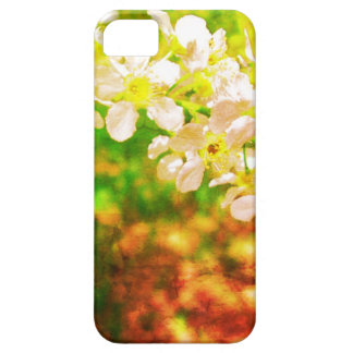 Flores brancas iPhone5 Capa Barely There Para iPhone 5