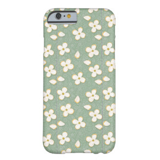 Flores brancas pequenas capa barely there para iPhone 6