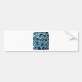 Flores chain azuis adesivo