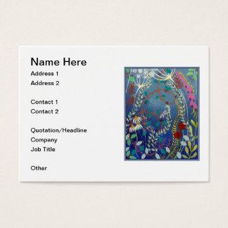 Flores coloridas cartão de visita grande