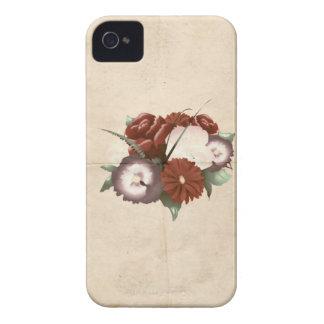 Flores coloridos do vintage retro capas iPhone 4